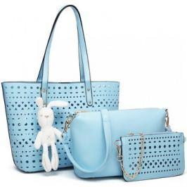 Lulu Bags (Anglie)  Modrý dámský kabelkový set Rabbit 3v1 Miss Lulu  Modrá