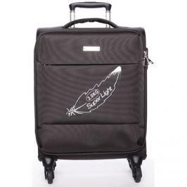 Menqite  Odlehčený cestovní kufr hnědý -  Kisar L  Hnědá