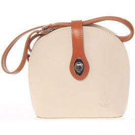 Detail zboží · Italy Malá dámská béžová kožená crossbody kabelka - Zerena  Béžová 5071c99498