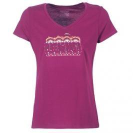 Patagonia  W's Femme Fitz Roy Cotton V-Neck T-Shirt  Růžová