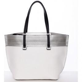 Tommasini  Trendy měkká dámská kabelka bílá - Tomassini Millie  Bílá