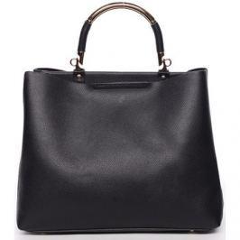 Tommasini  Exkluzivní měkká dámská kabelka do ruky černá -  Kyndall  Černá