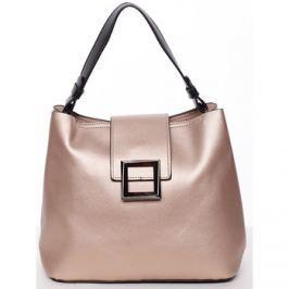 Tommasini  Trendy elegantní dámská kabelka lesklá růžová -  Alejandra  Růžová