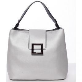 Tommasini  Trendy elegantní dámská kabelka stříbrná -  Alejandra  Stříbrná