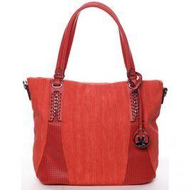 Maria C.  Exkluzívní dámská kabelka přes rameno červená - Nevaeh  Červená