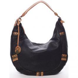 Maria C.  Trendy dámská měkká kabelka černá - Zariah  Černá