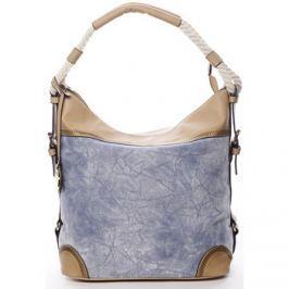 Maria C.  Velká atraktivní kabelka přes rameno modrá - Mimis  Modrá