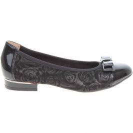 Caprice  dámské baleriny 9-22108-20 black roses comb  Černá