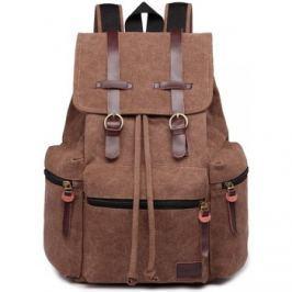 Lulu Bags (Anglie)  KONO velký tmavě hnědý multifunkční batoh s koženými doplňky UNI  ruznobarevne