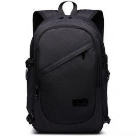 Lulu Bags (Anglie)  KONO černý moderní elegantní batoh s USB portem UNISEX  ruznobarevne