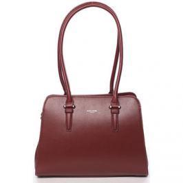 David Jones  Elegantní dámská tmavě červená kabelka přes rameno -  Jade  Červená