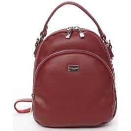 David Jones  Malý dámský tmavě červený městský batůžek/kabelka -  Aubri  Červená