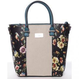 David Jones  Dámská kabelka s květinovým vzorem černá -  Ember  Černá
