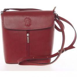 Italy  Dámská kožená crossbody kabelka červená -  Marketa  Červená