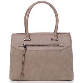 David Jones  Jemná dámská elegantní kabelka do ruky tmavá camel -  Lethia 2  ruznobarevne