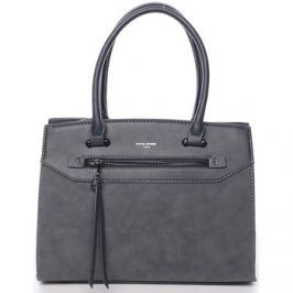 David Jones  Jemná dámská elegantní kabelka do ruky pávově modrá -  Lethia 2  Modrá
