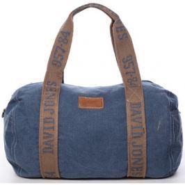 David Jones  Dámská látková modrá kabelka přes rameno -  Molly  Modrá