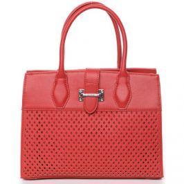 David Jones  Luxusní a elegantní červená perforovaná kabelka -  Narella  Červená
