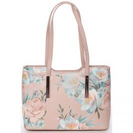 David Jones  Moderní květinová kabelka přes rameno růžová -  Aromik  Růžová