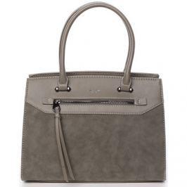 David Jones  Jemná dámská elegantní kabelka do ruky olivově zelená -  Lethia  Zelená