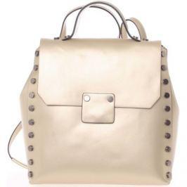 Italy  Unikátní zlatý dámský kožený batoh/kabelka -  Nicoletta  Zlatá