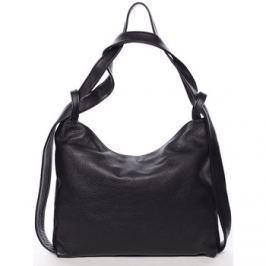 Italy  Módní černá kožená kabelka přes rameno -  Nympha  Černá