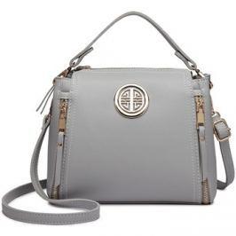 Lulu Bags (Anglie)  Malá šedá dámská moderní kabelka Miss Lulu