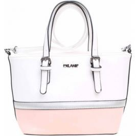 Rejnok Dovoz  Dámská kabelka PC103 white-pink-silver  Bílá