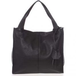 Italy  Elegantní černá kožená kabelka přes rameno -  Nyse  Černá