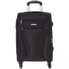 Lumi  Pevnější látkový kufr černý -  Iann M  Černá