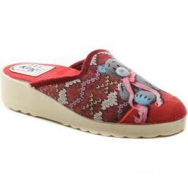 Italy  King 04 červené dámské papuče  Červená