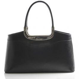 Italy  Černá kožená kabelka do ruky  Stefanie  Černá