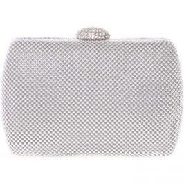 Delami  Menší dámské perleťové psaníčko stříbrné -  v039  Stříbrná