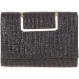 Delami  Originální dámské psaníčko černé s pleteným vzorem -  hl3038  Černá
