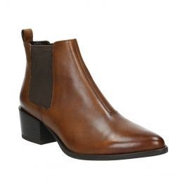 Dámská kožená Chelsea obuv na podpatku