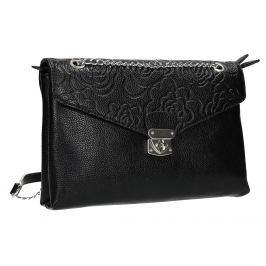 Menší černá kabelka s klopu