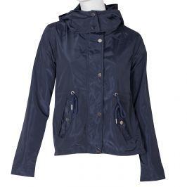 Dámská modrá bunda s kapucí