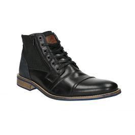 Kožená kotníčková obuv s ležérní podešví