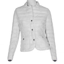 Bílá prošívaná bunda s límečkem